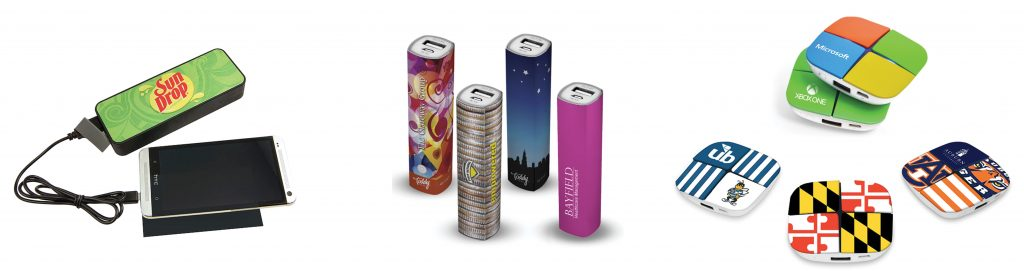 custom branded logo power bank chargers
