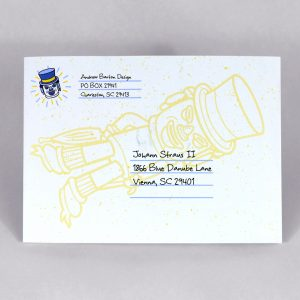Happy New year card - direct mail - custom design -charleston, sc