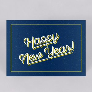 Happy New year card - direct mail